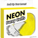 Neon Furry Cuffs - Yellow