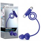 Blush Performance Penetrator Anal Plug w/Vibrating Cock Rings - Indigo