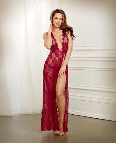 Lace Gown & G-String Garnet LG
