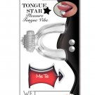 Wet Dreams Tongue Star Vibe - Clear w/10 ml Liquor Lube Pillow