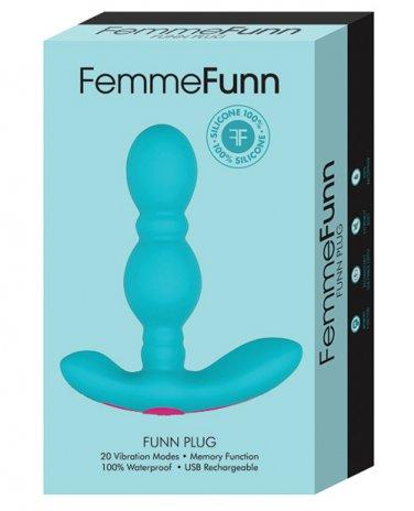 FemmeFunn Funn Plug Vibrating Butt Plug - Turquoise