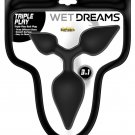 Wet Dreams Triple Play Anal Plug - Black