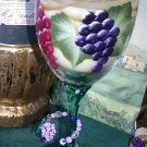 Tuscan Vineyard ~ 12 oz. Hand-painted Wine Goblet ONLY