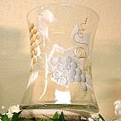 Tuscan Vineyard ~ Hand-painted Hourglass Wine/Champagne Cooler ~ Wedding
