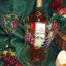 Tuscan Vineyard ~ Hand-painted Hourglass Wine/Champagne Cooler