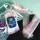 "Three Piece FURshionista Fashion ""Confetti"" Handcrafted Diva Doggie Sweater Ensemble"