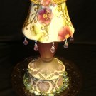 """Vintage Garden"" ~ Re-purposed ,Upcycled Candle Holder VG1"