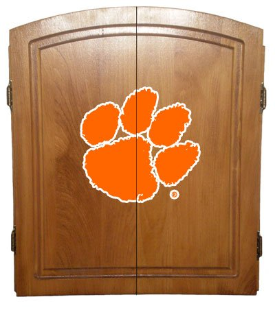Officially Licensed College Dart Board Cabinet, Oak Finish Only (bristle board NOT included)