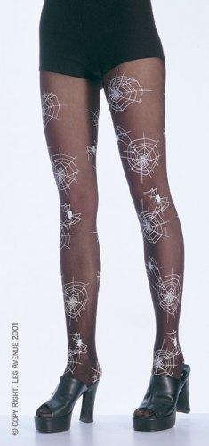 Leg Avenue glow dark spider web pantyhose black one size