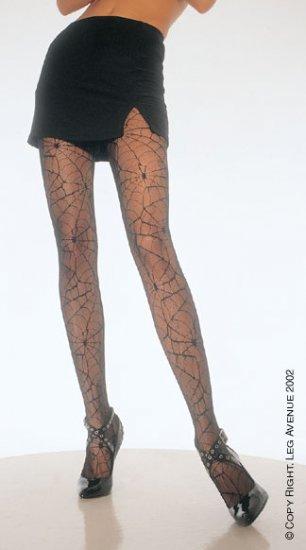Leg Avenue spider web pantyhose black one size