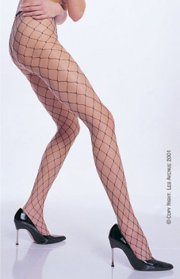 Leg Avenue fence net fishnet pantyhose black one size