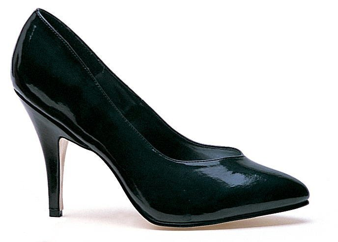 Ellie 8400 classic pumps 4 inch stiletto high heels black patent shoes size 7