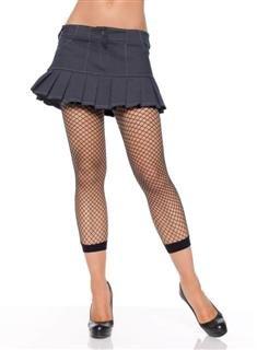 Leg Ave industrial net footless capri leg tights light pink one size
