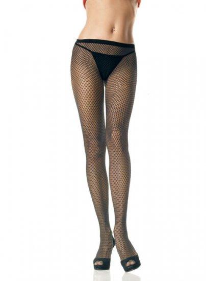 Leg Avenue Lycra seamless starry net pantyhose black one size