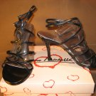Strappy sandals 3.5 inch stiletto high heel shoes black size 8