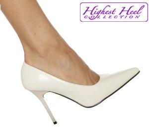 Classic pumps 4 inch stiletto high heels shoes bone size 8