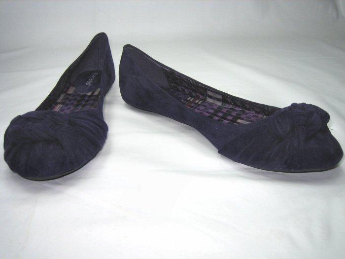 Bamboo ballerina flats pumps women's shoes faux suede purple size 7
