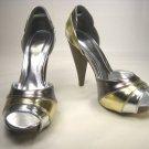 Anne Michelle open toe platform d'Orsay pumps high heels shoes size 8.5