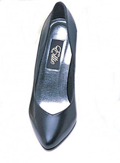 Ellie 8220 classic power pumps 5 inch stiletto high heels black PU (faux leather) size 5