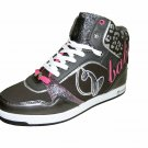 Baby Phat Lana women's athletic comfort flats lace high low top sneakers shoes charcoal size 8.5