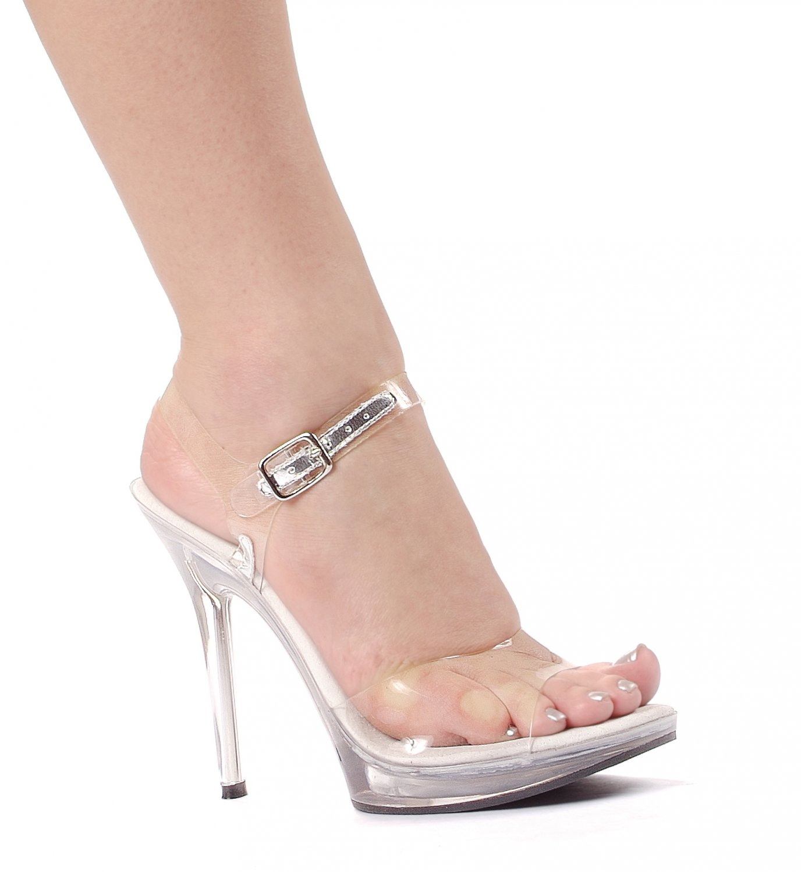 91420d4f2f7 Ellie 502-Brook platform 5 inch spike high heels strappy sandals shoes clear  size 12