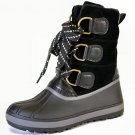 Bamboo Blizzard-1 women's pac duck fleece lined winter rain lug sole boots black size 6.5