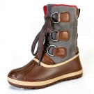 Bamboo Blizzard-1 women's pac duck fleece lined winter rain lug sole boots chestnut size 6