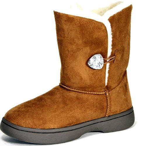 Bamboo Tahoe-14 women's eskimo mukluk fleece lined comfy winter boots chestnut size 10