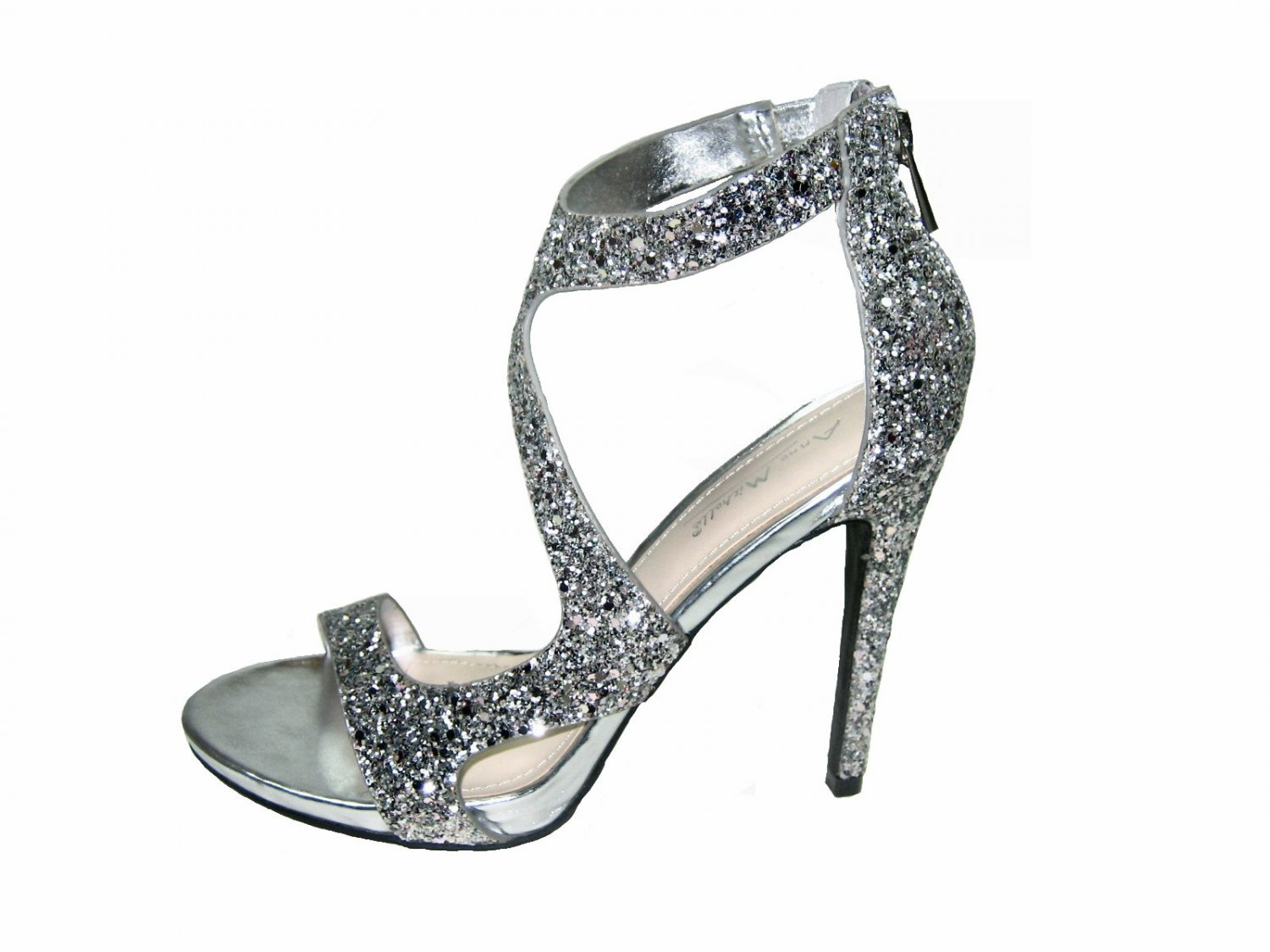 Strappy Silver Heels For Wedding - Is Heel