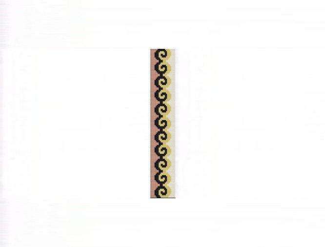 3E Tessellation #1 Thin Bracelet - Loom Bead Pattern