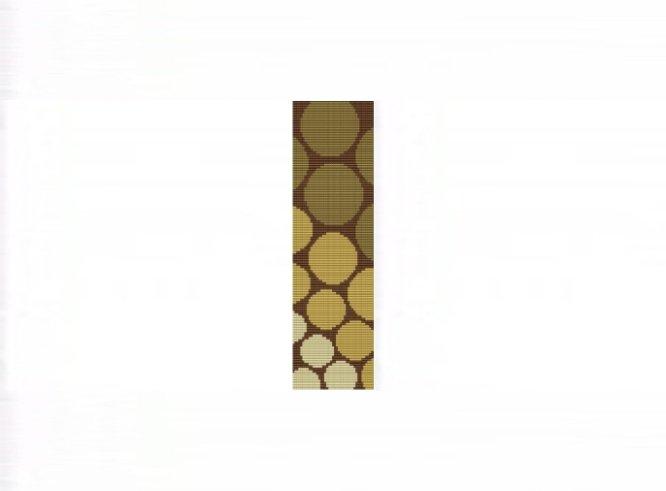 Progressive Gold Circles Cuff Bracelet - Loom Bead Pattern