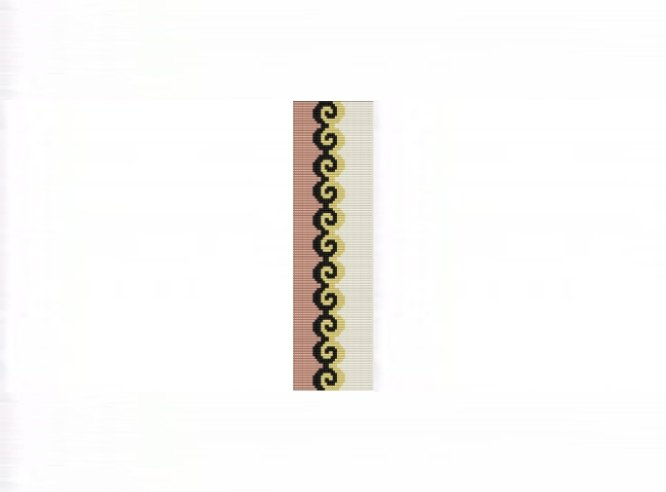 3E Tessellation #1 Cuff Bracelet - Loom Bead Pattern