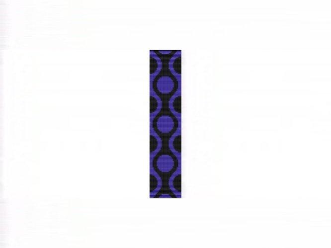 60s Retro Blue Cuff Bracelet - Loom Bead Pattern