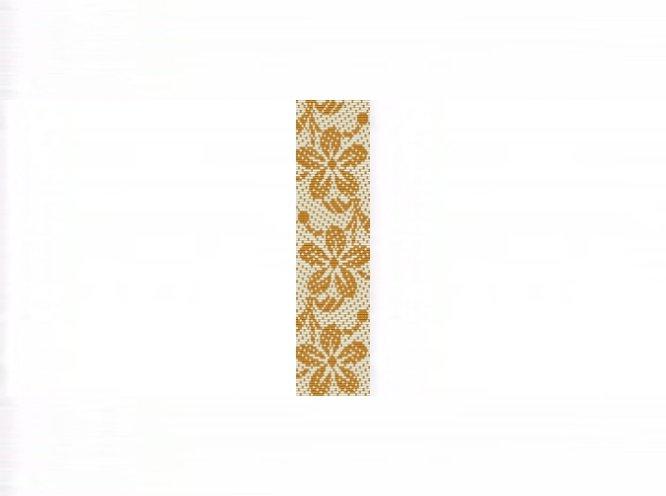 Hawaiian Print Gold Bracelet - Loom Bead Pattern