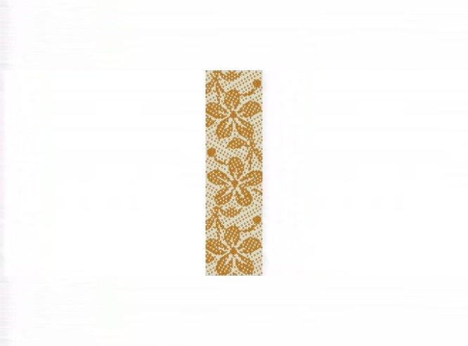 Hawaiian Print Gold Bracelet - 1 Drop Even Count Peyote Bead Pattern