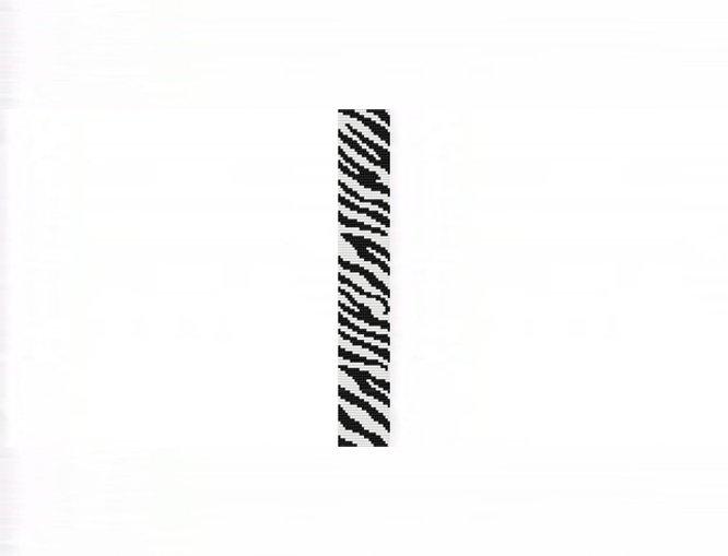 Zebra Safari Thin Bracelet - Loom Bead Pattern