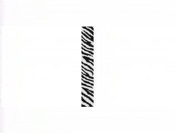 Zebra Safari Thin Bracelet - 2 Drop Odd Count Peyote Bead Pattern