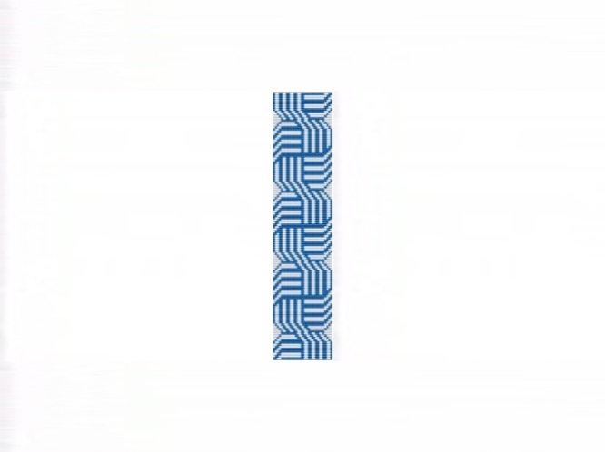 Celtic Knots Blue Cuff Bracelet - Loom Bead Pattern
