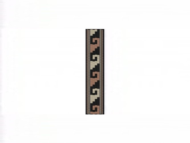 NA Rug #12 Cuff Bracelet - 4 Drop Even Count Peyote Bead Pattern