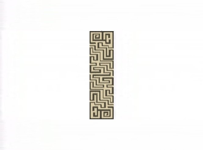 Aztec Maze Cuff Bracelet - 1 Drop Even Count Peyote Bead Pattern