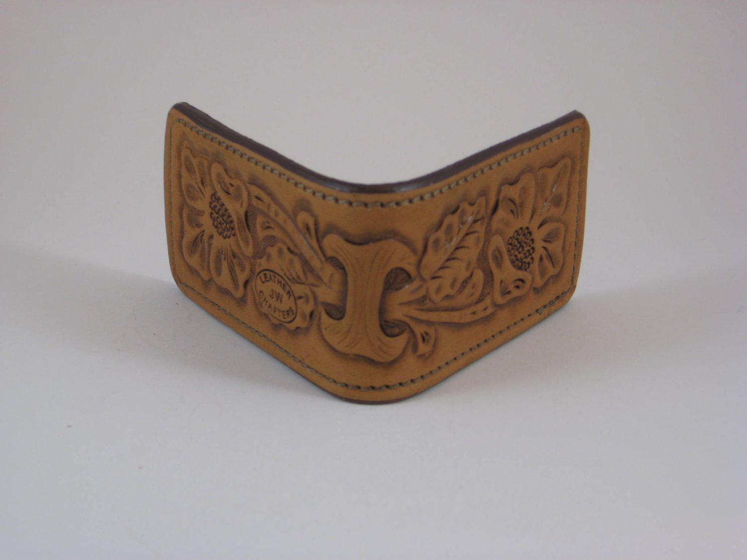 Magnetic Money Clip, Handtooled Leather, Western Floral WP0010