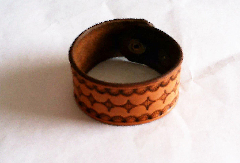 Tan Geometric Wristband  B0003