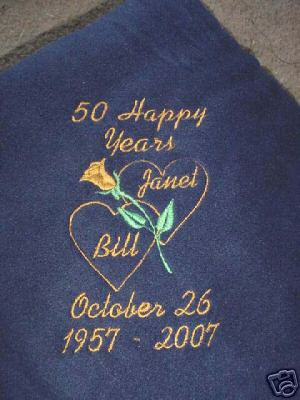 Personalized 25th 50th Wedding  Anniversary Blanket