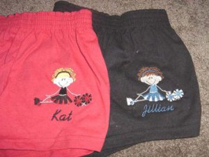 Personalized Cheer Cheerleader Cheerleading Shorts Y/S