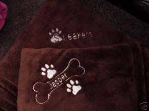 Personalized Pet Dog Cat Blanket 30 x 40  Tahoe Fleece