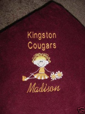 Personalized Girls Cheerleader Cheer  Fleece Blanket