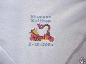 Personalized Tigger Newborn Infant Baby Fleece Blanket