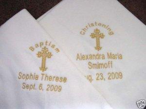 Personalized Baby Baptism Christening Fleece Blanket