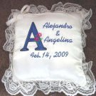 Personalized Wedding Bridal Ring Bearer Pillow Initials