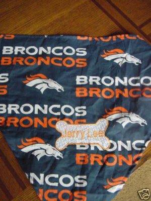 PERSONALIZED Denver Broncos DOG/CAT  PET BANDANA Scarf